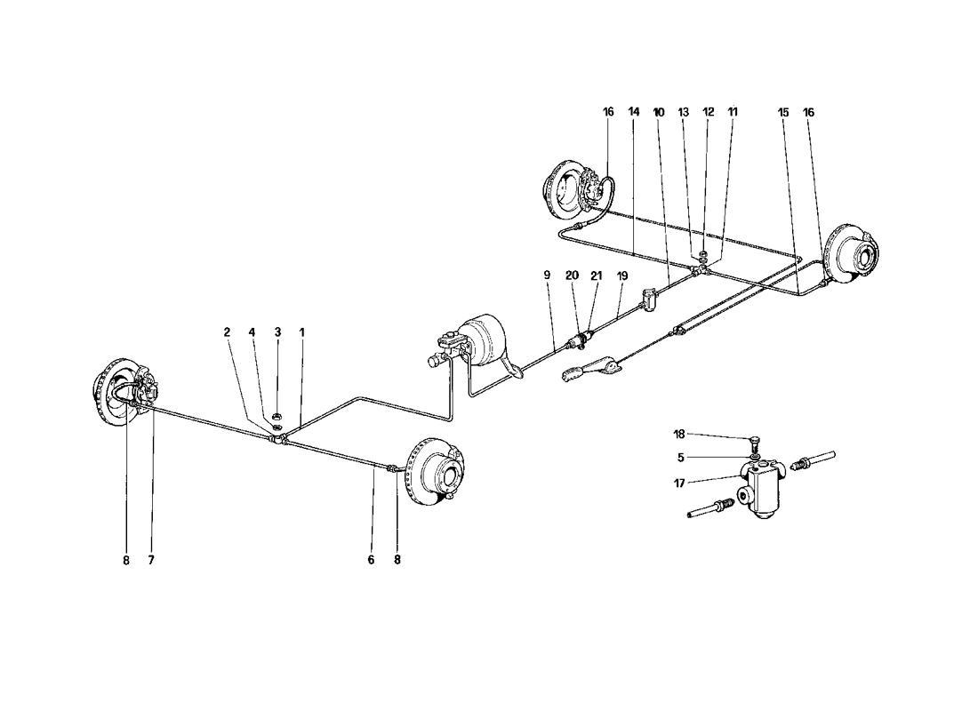 BRAKE SYSTEM (FOR CAR WITHOUT ANTISKID SYSTEM)