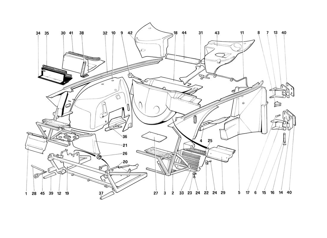 BODY SHELL - INNER ELEMENTS WITH ANTISKID