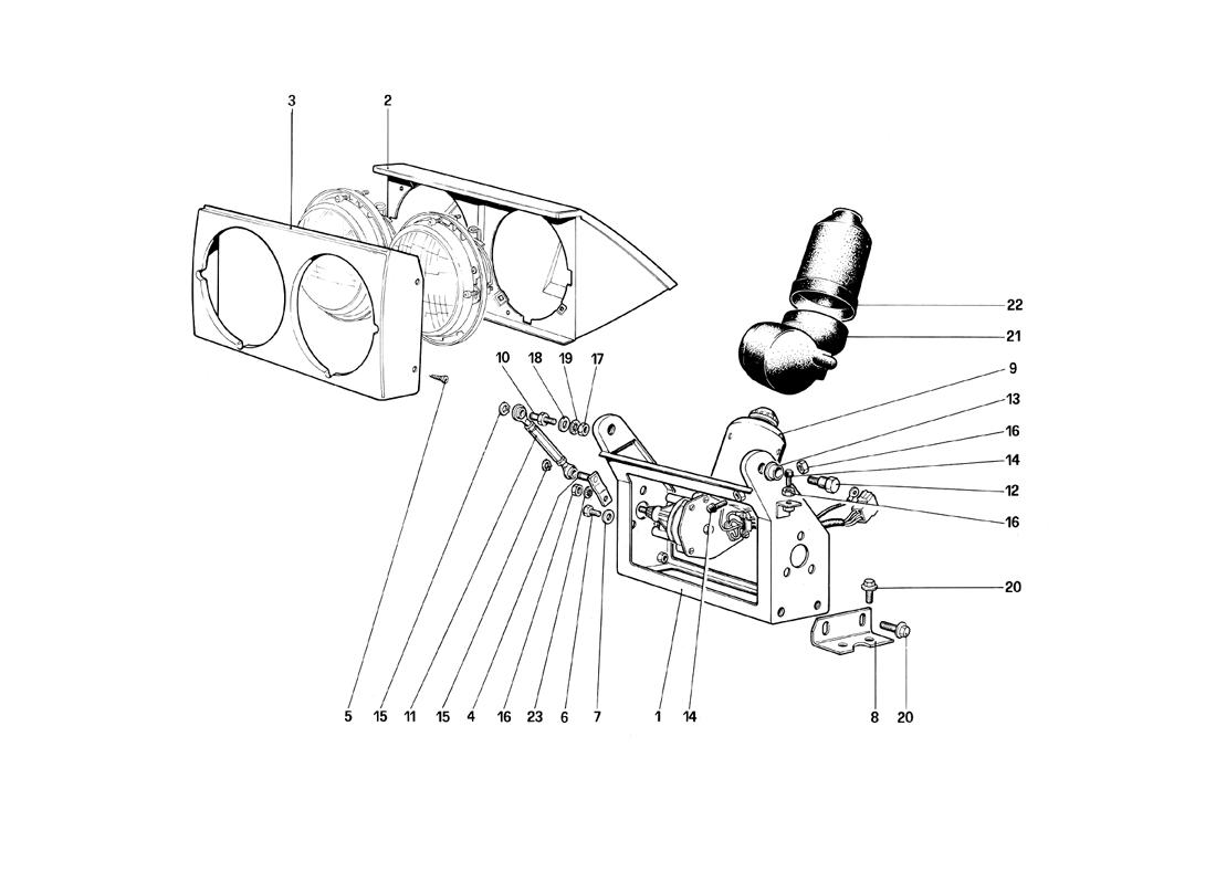 HEADLIGHTS LIFTING DEVICE