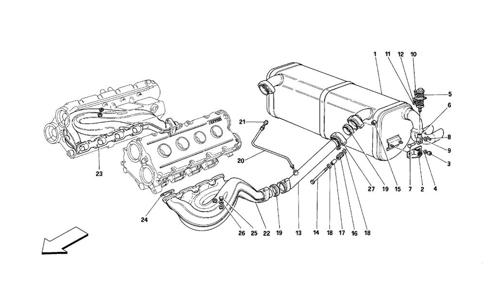 EXHAUST SYSTEM -NOT FOR CARS WITH CATALYSTS AND 77DB