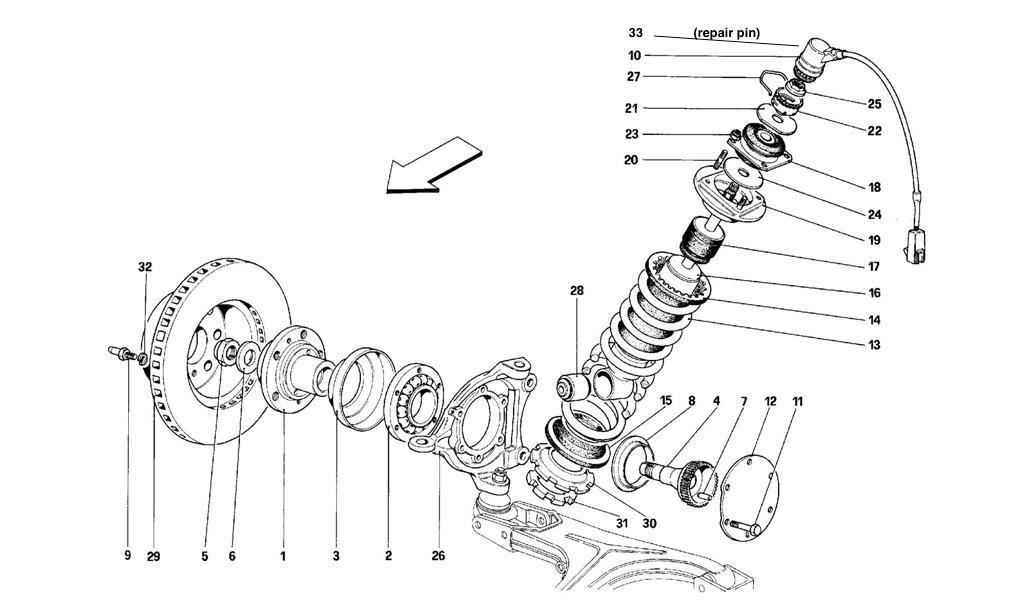 FRONT SUSP. - SHOCK ABSORBER AND BRAKE DISC