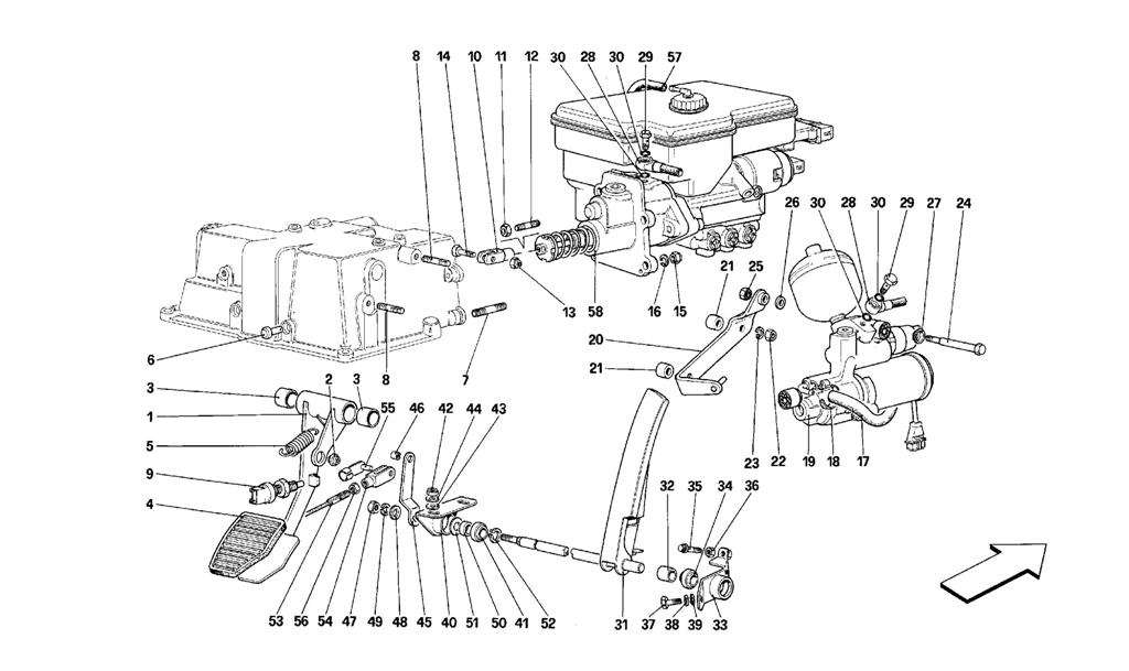 THROTTLE PEDAL AND BRAKE HYDRAULIC SYSTEM -VALID FOR RHD-