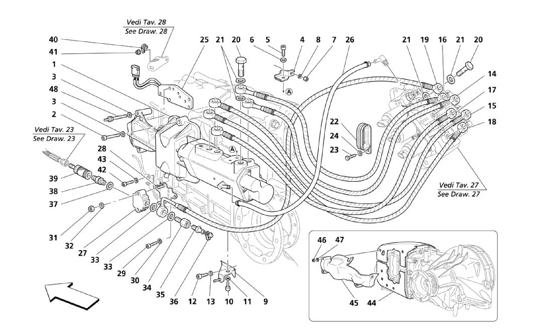F1 CLUTCH HYDRAULIC CONTROLS -VALID FOR F1