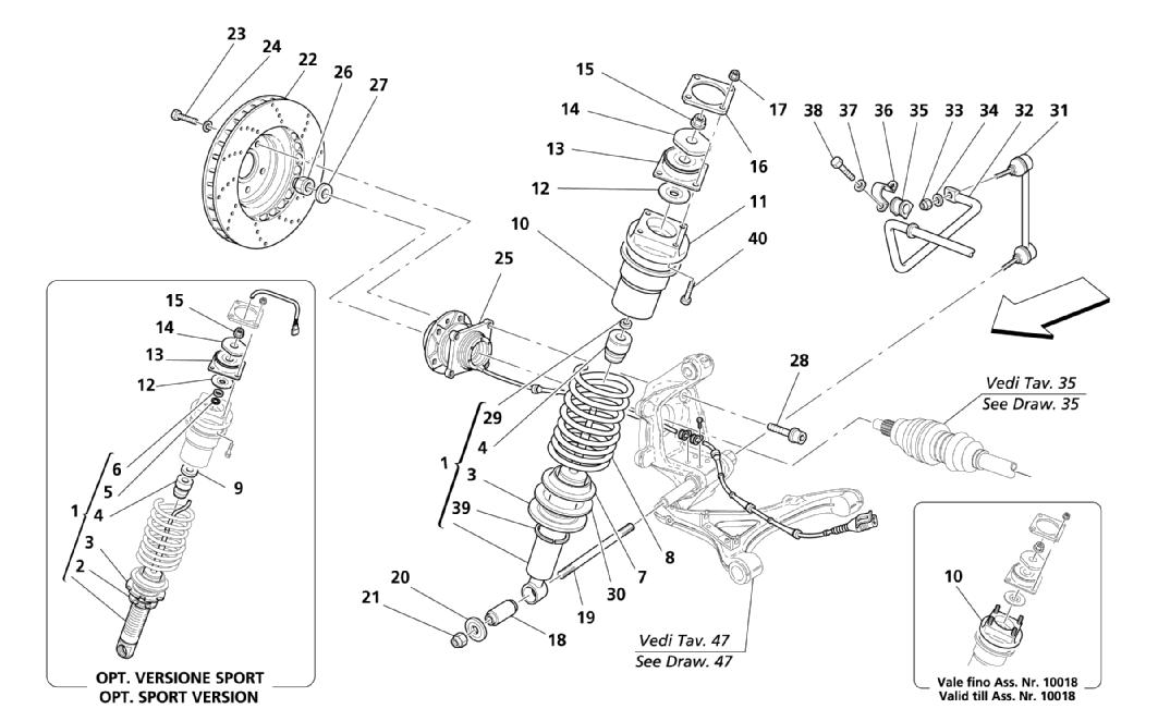 REAR SUSPENSION - SHOCK ABSORBER AND BRAKE DISK