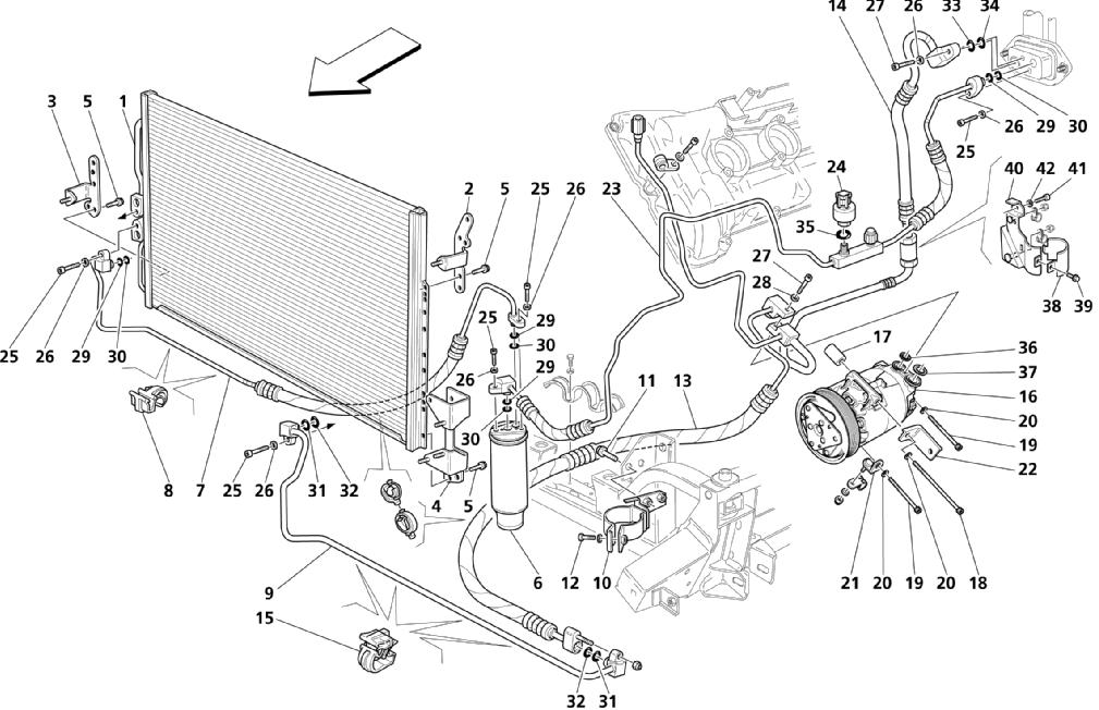 A.C. GROUP: ENGINE COMPARTMENT PARTS (Page 1/2)