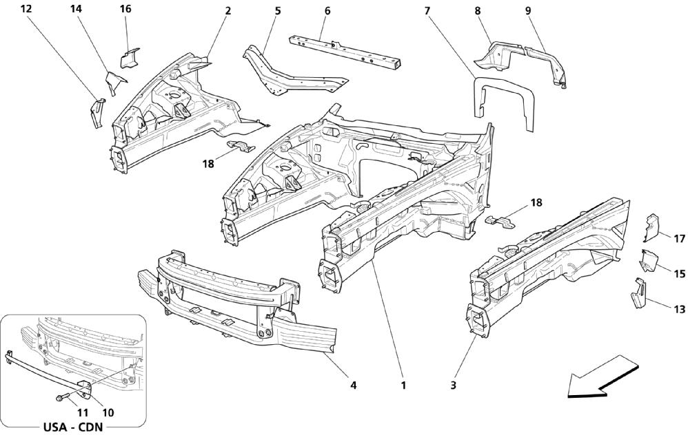 FRONT STRUCTURAL PARTS