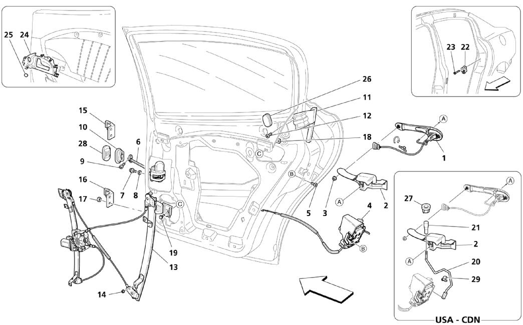 REAR DOORS: MOVEMENT DEVICES