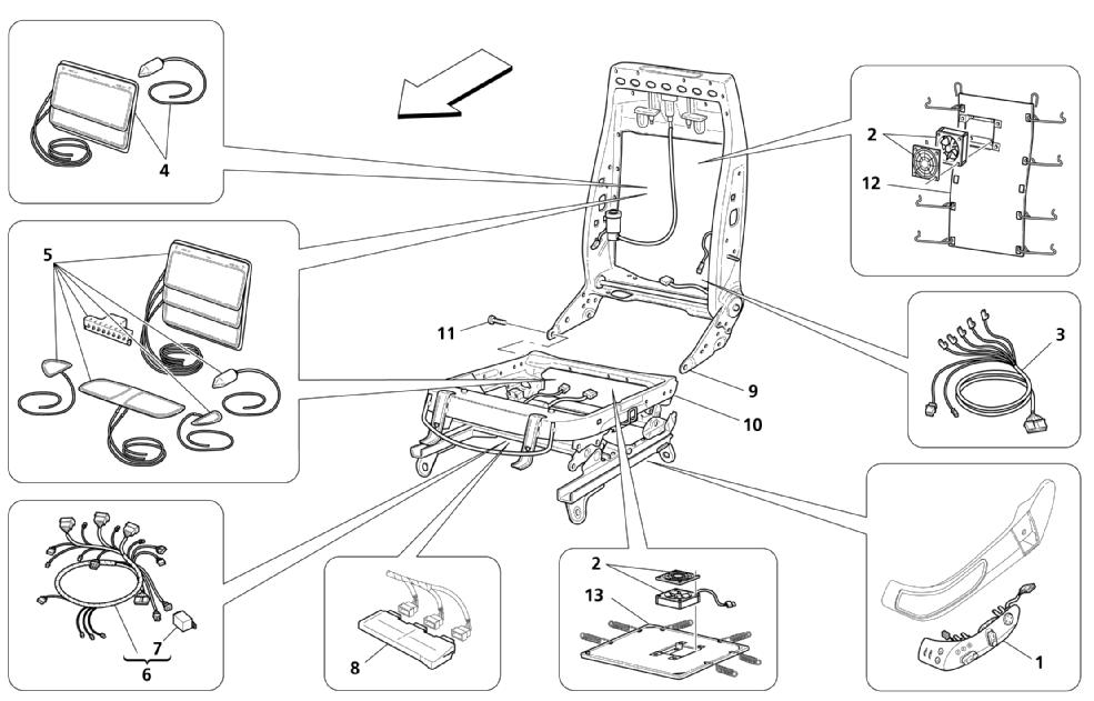 FRONT SEATS: MECHANICAL AND ELECTRONIC UNITS