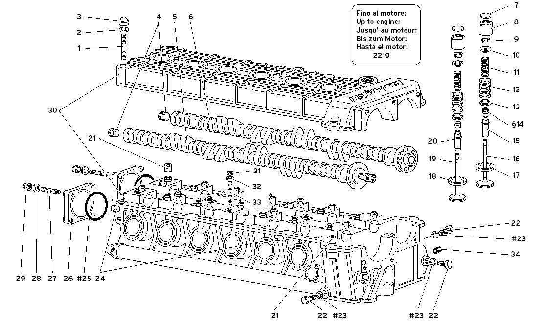 LEFT CYLINDER HEAD (TO ENGINE 2219)