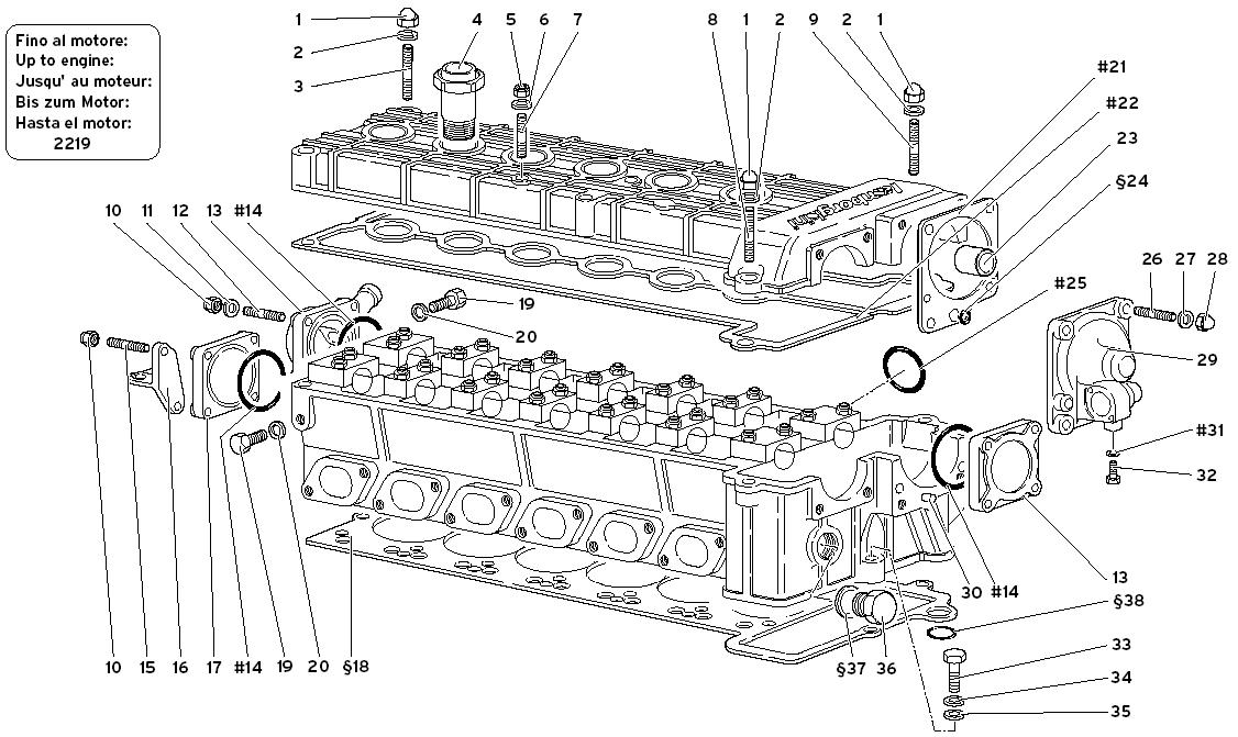 ACCESSORIES FOR RIGHT CYLINDER HEAD (UNTIL ENGINE 2219)