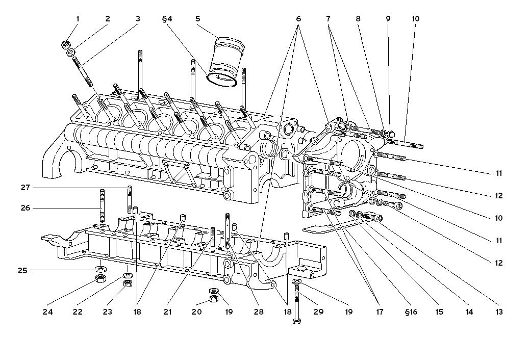 CRANKCASE AND LOWER MOUNTING MOTOR
