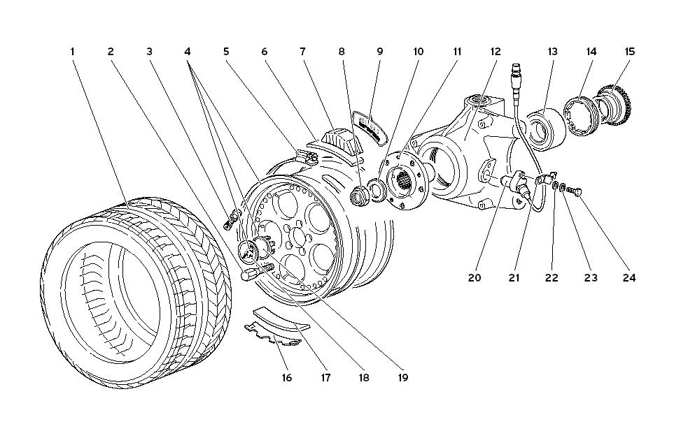 FRONT WHEEL AND HUB CARRIER