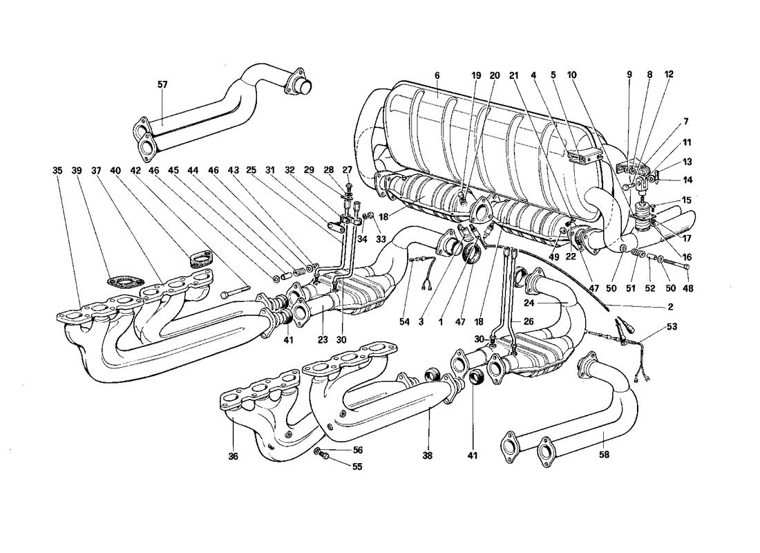 EXHAUST SYSTEM (FOR U.S. - SA AND CH87)