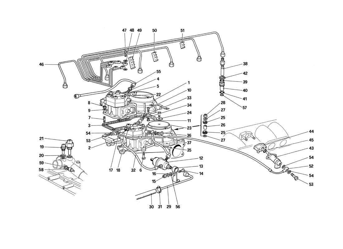 FUEL DISTRIBUTORS LINES - KE - JETRONIC SYSTEM