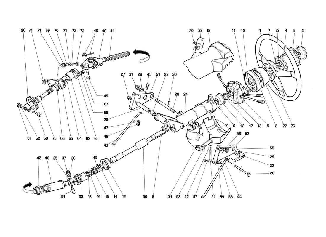 STEERING COLUMN (UNTIL CAR NO. 75995)
