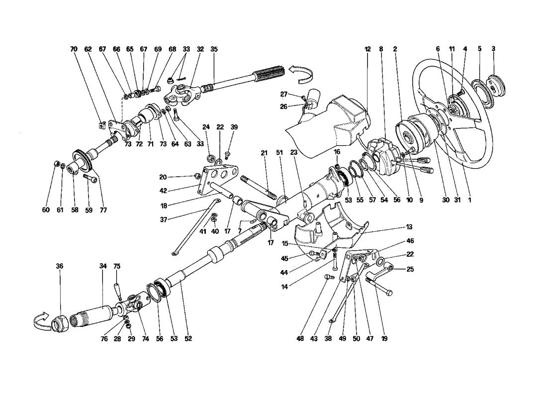 STEERING COLUMN (STARTING FROM CAR NO. 75997 TO CAR NO. 80422)