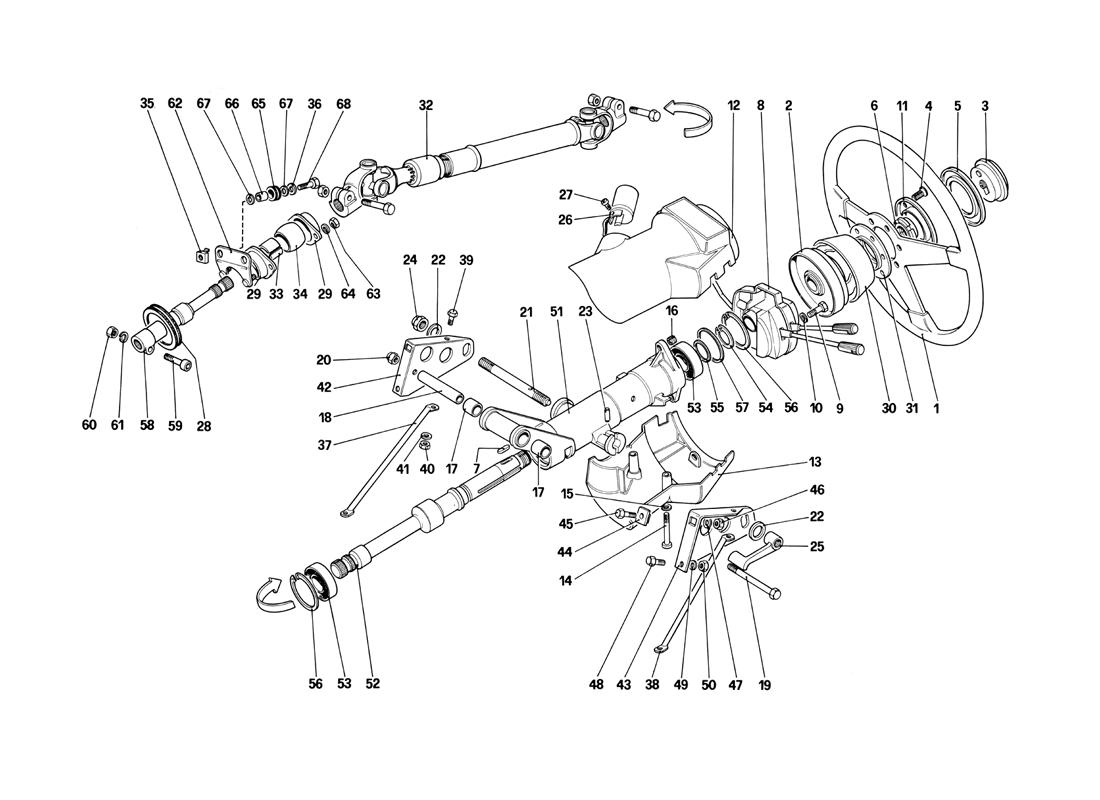 STEERING COLUMN (STARTING FROM CAR NO. 80423)