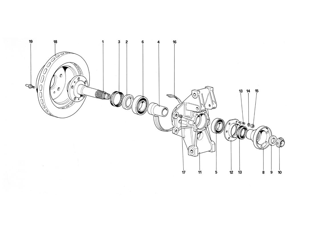 REAR SUSPENSION - BRAKE DISC (STARTING FROM CAR NO.75997)