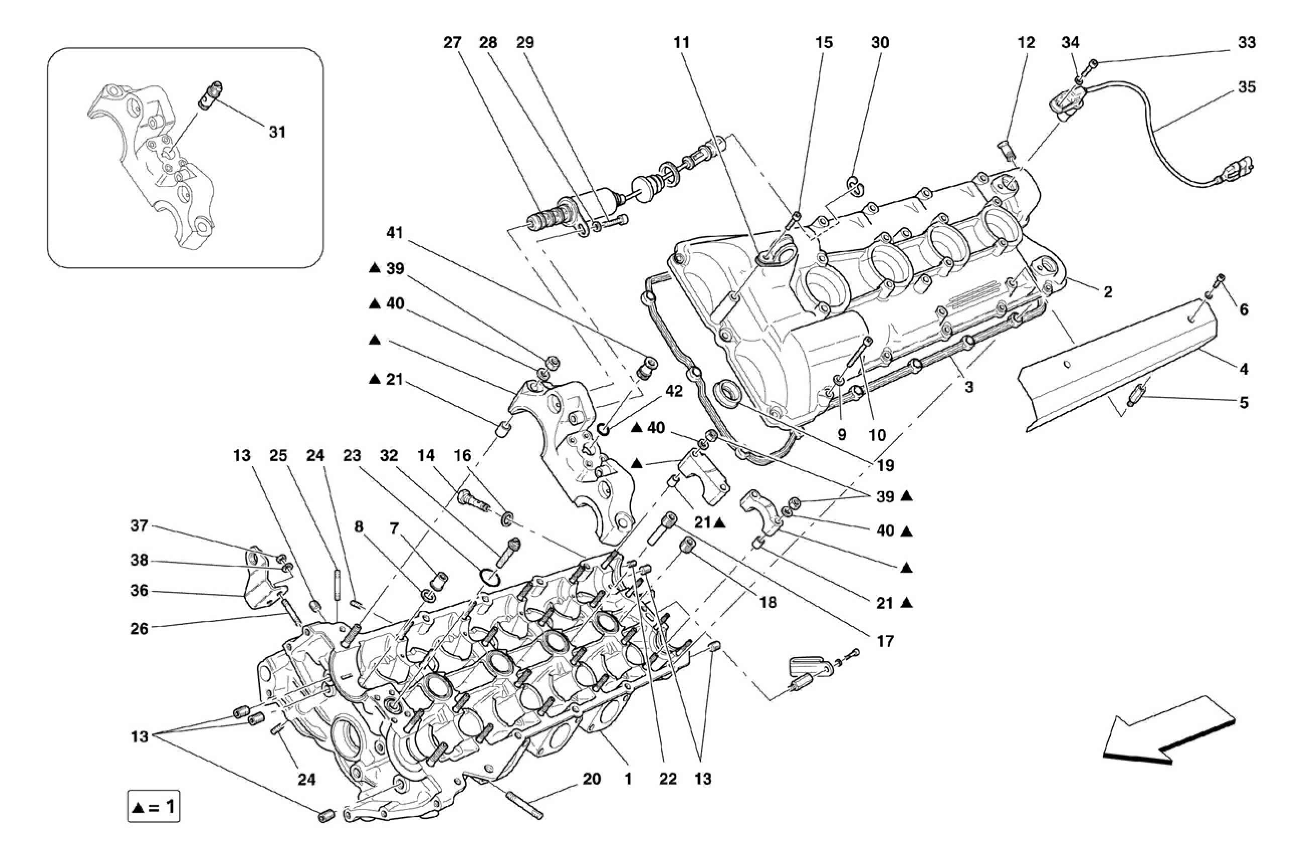 Ferrari F430 Spider L H  Cylinder Head