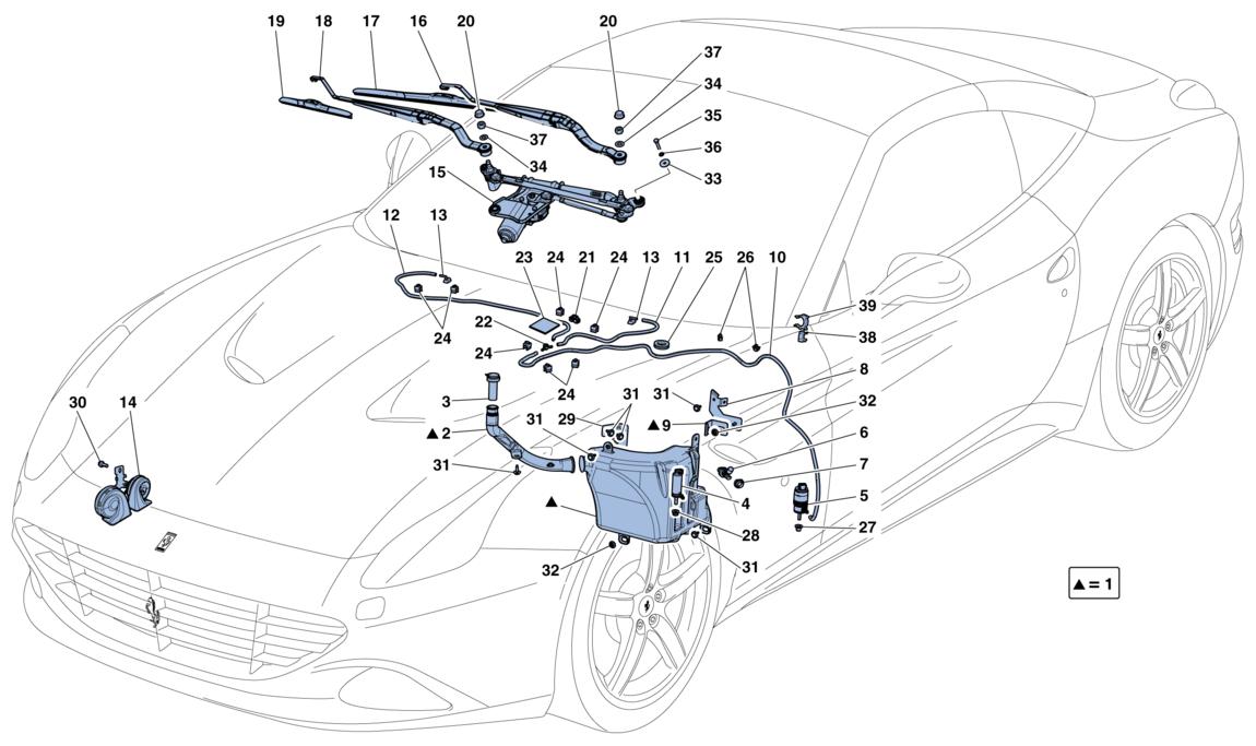 Ferrari California T Windscreen Wiper Windscreen Washer And Horns