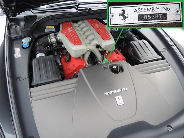 599 Assembly Number